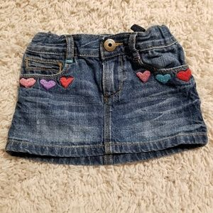 Baby Gap denim mini skirt